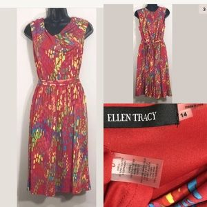 Ellen Tracy Plus Sz 14 multicolor sheath dress